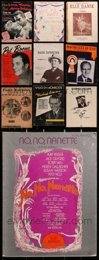 1s147 LOT OF 10 SONG FOLIO MAGAZINES 1950s-1970s great songs from a variety of different singers!