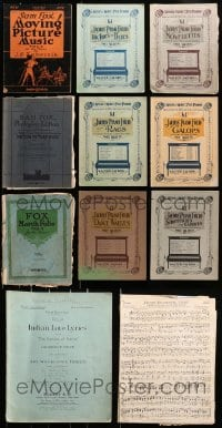 1s149 LOT OF 11 PIANO SONG FOLIO MAGAZINES 1900s-1920s a variety of different songs!