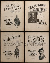 1s135 LOT OF 4 HARRY LAUDER 10.5 X 13.5 SHEET MUSIC 1917-1918 a variety of different songs!