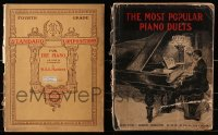 1s150 LOT OF 2 PIANO SONG BOOKS 1900s The Most Popular Piano Duets, Standard Compositions!