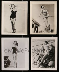 1s962 LOT OF 4 4x5 PHOTOS 1950s sexy ladies in skimpy outfits including Marilyn Monroe!