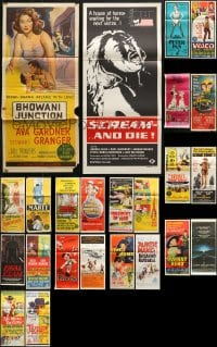 1s048 LOT OF 28 FOLDED AUSTRALIAN DAYBILLS 1950s-1980s great images from a variety of movies!