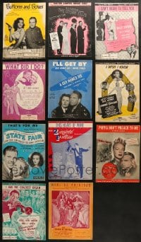 1s108 LOT OF 11 SHEET MUSIC 1940s great songs from a variety of different movies!