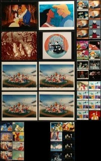 1s975 LOT OF 60 COLOR WALT DISNEY CARTOON 8X10 REPRO PHOTOS 1980s a variety of animation images!