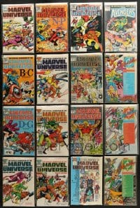 1s098 LOT OF 19 MARVEL UNIVERSE HANDBOOK AND DC WHO'S WHO COMIC BOOKS 1980s cool!