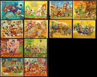 1s094 LOT OF 12 WALT DISNEY TRIMMED 11X14 COMMERCIAL PRINTS 1960s Mickey Mouse & friends!