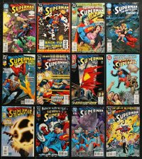 1s095 LOT OF 12 SUPERMAN COMIC BOOKS 1990s-2000s adventures of the Man of Steel