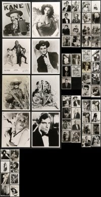 1s974 LOT OF 69 8X10 REPRO PHOTOS 1980s-1990s portraits of top stars & classic movie scenes!