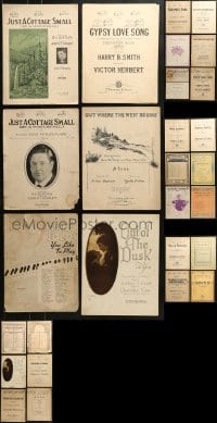 1s153 LOT OF 28 SHEET MUSIC AND SONG BOOKS 1910s-1940s a variety of great songs!