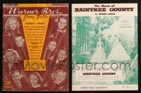 1s151 LOT OF 2 SONG FOLIO MAGAZINES 1930s-1950s a variety of great songs!