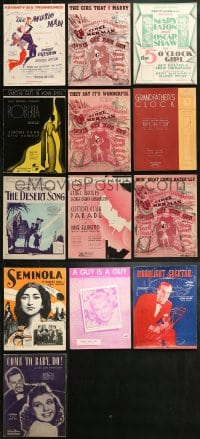 1s152 LOT OF 22 STAGEPLAY AND SONG SHEET MUSIC 1920s-1940s a variety of different songs!