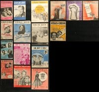 1s113 LOT OF 16 ENGLISH MOVIE SHEET MUSIC 1930s-1950s songs from a variety of different movies!