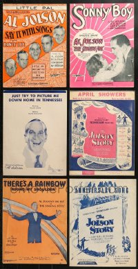 1s141 LOT OF 6 AL JOLSON SHEET MUSIC 1920s-1940s Say it w/Songs, There's a Rainbow on my Shoulder!