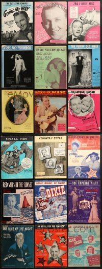 1s118 LOT OF 21 BING CROSBY MOVIE SHEET MUSIC 1930s-1950s great songs from his movies!
