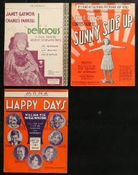1s127 LOT OF 3 JANET GAYNOR MOVIE SHEET MUSIC 1920s-1930s great songs from her movies!
