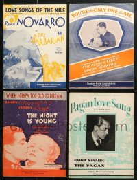 1s137 LOT OF 4 RAMON NOVARRO MOVIE SHEET MUSIC 1920s-1930s great songs from his movies!