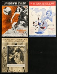 1s126 LOT OF 3 DOROTHY LAMOUR MOVIE SHEET MUSIC 1930s great songs from her movies!