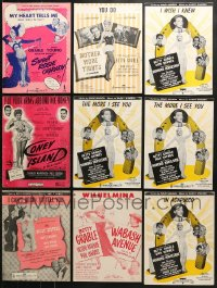 1s144 LOT OF 9 BETTY GRABLE MOVIE SHEET MUSIC 1930s-1940s a variety of songs from her movies!