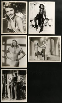 1s999 LOT OF 5 RITA HAYWORTH DELUXE REPRO 8X10 STILLS 1980s portraits of the beautiful star!