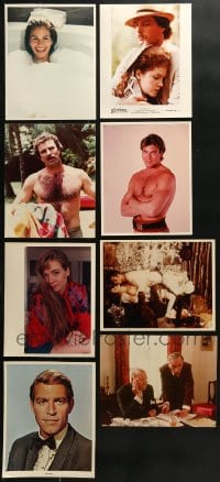 1s996 LOT OF 8 COLOR 8X10 REPRO PHOTOS 1980s great portaits of Hollywood stars & movie scenes!