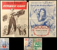 1s093 LOT OF 7 FOLDED 18X24 LIBRARY POSTERS 1960s Citizen Kane, Sinbad the Sailor, Gunga Din!
