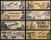 1s092 LOT OF 8 1950S MONTE HALE WESTERN 4X11 TITLE STRIPS 1950s great images from cowboy movies!