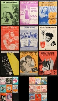 1s121 LOT OF 26 MOVIE SHEET MUSIC 1930s-1950s great songs from a variety of movies!