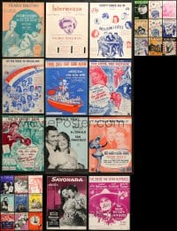 1s124 LOT OF 29 MOVIE SHEET MUSIC 1940s-1960s great songs from a variety of movies!