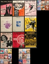 1s132 LOT OF 33 MOVIE SHEET MUSIC 1930s-1950s great songs from a variety of movies!