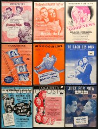 1s116 LOT OF 18 MOVIE SHEET MUSIC 1930s-1950s great songs from a variety of movies!