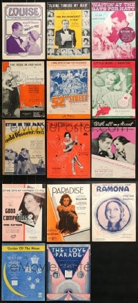 1s111 LOT OF 14 MOVIE SHEET MUSIC 1930s-1950s great songs from a variety of movies!