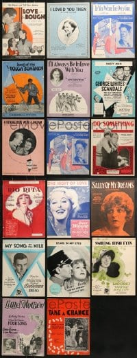 1s115 LOT OF 17 MOVIE SHEET MUSIC 1930s-1940s great songs from a variety of movies!