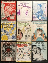 1s114 LOT OF 16 MOVIE SHEET MUSIC 1920s-1930s great songs from a variety of movies!