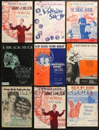 1s106 LOT OF 10 DICK POWELL MOVIE SHEET MUSIC 1930s a variety of songs from his movies!