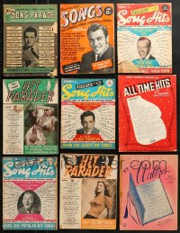 1s160 LOT OF 9 SONG MAGAZINES 1940s-1950s a variety of music from movies & more!