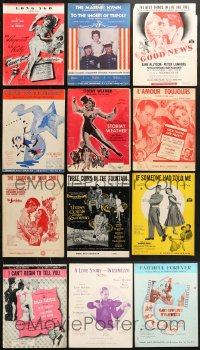 1s109 LOT OF 12 MOVIE SHEET MUSIC 1940s-1950s songs from a variety of different musicals!