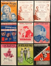 1s117 LOT OF 20 MOVIE SHEET MUSIC 1930s-1950s songs from a variety of different musicals!