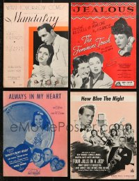 1s136 LOT OF 4 KAY FRANCIS MOVIE SHEET MUSIC 1930s Mandalay, The Feminine Touch & more!