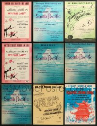 1s110 LOT OF 13 STAGE PLAY SHEET MUSIC 1940s-1950s songs from My Fair Lady, South Pacific & more!