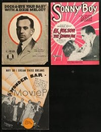 1s125 LOT OF 3 AL JOLSON SHEET MUSIC 1910s-1930s songs from Sonny Boy, Wonder Bar & more!