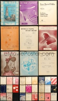 1s133 LOT OF 35 SHEET MUSIC 1910s-1950s great songs from a variety of singers!