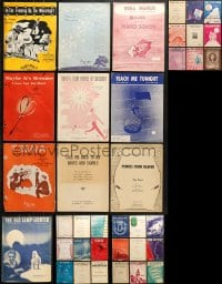 1s138 LOT OF 46 SHEET MUSIC 1910s-1950s great songs from a variety of singers!
