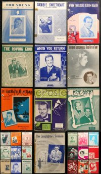 1s123 LOT OF 28 SHEET MUSIC 1940s-1960s great songs from a variety of singers!