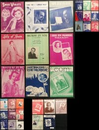 1s131 LOT OF 32 SHEET MUSIC 1930s-1950s great songs from a variety of singers!