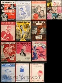 1s119 LOT OF 21 SHEET MUSIC 1930s-1950s great songs from a variety of movies & movie!