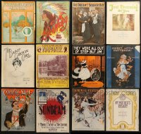 1s120 LOT OF 23 10.75X13.75 SHEET MUSIC 1910s-1920s great songs from a variety of artists!