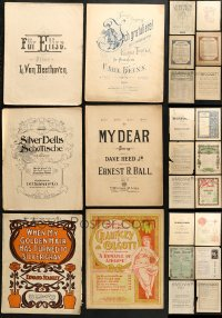 1s134 LOT OF 37 10.75X13.75 SHEET MUSIC 1920s-1930s great songs from a variety of artists!