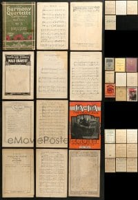 1s154 LOT OF 34 SONG BOOKS 1910s-1930s sheet music for a variety of different songs!