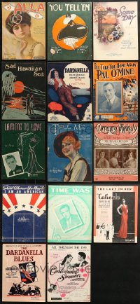 1s112 LOT OF 14 SHEET MUSIC 1910s-1930s great songs from a variety of different artists!