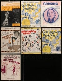 1s143 LOT OF 7 SHEET MUSIC 1920s-1930s great songs from a variety of different movies!